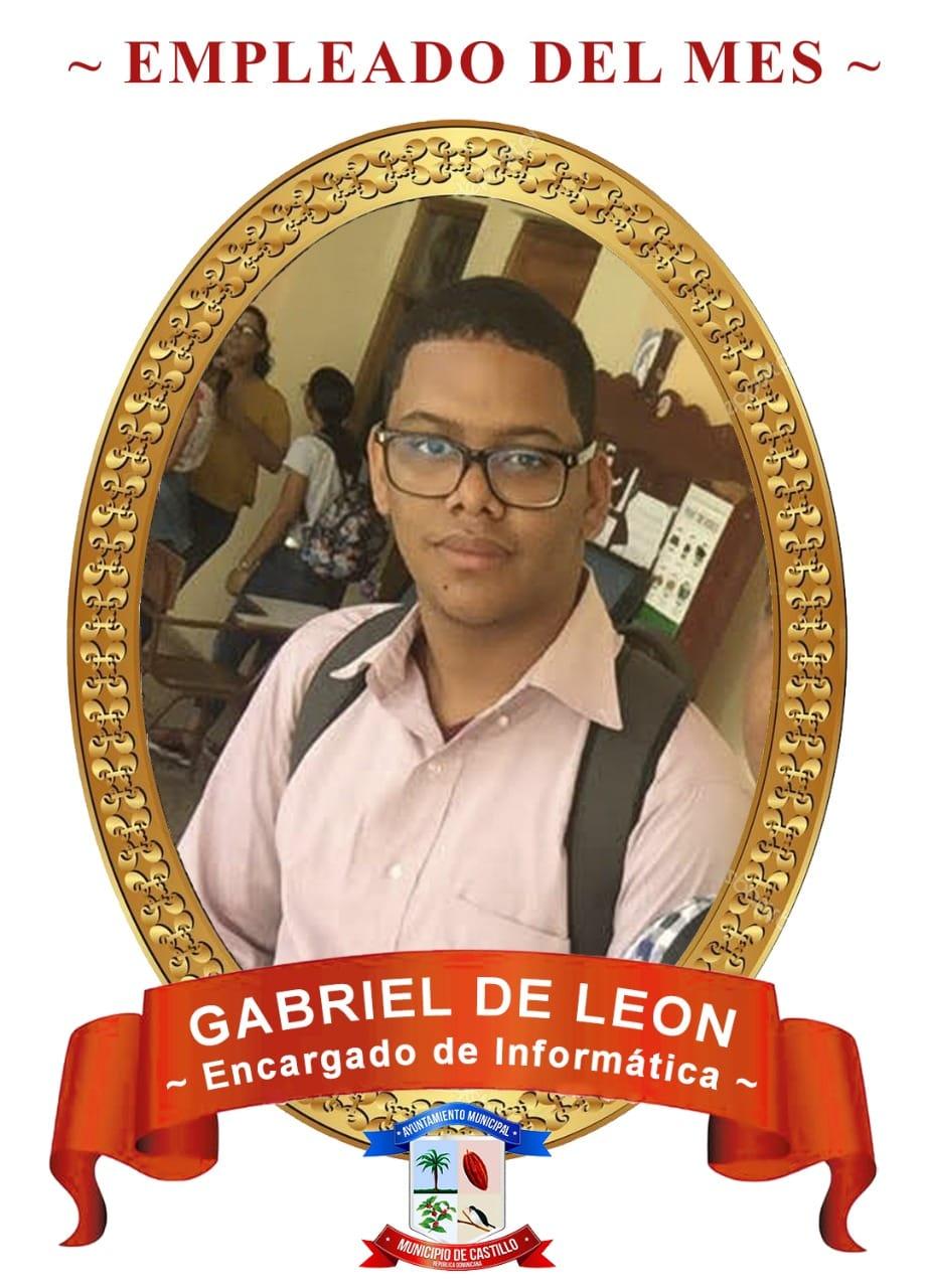 Empleado del Mes GABRIEL DE LEON